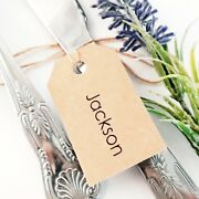 Simple Personalised Wedding Favour Guest Name Tags Small Luggage Label Tag Party