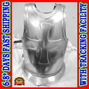 Knights Templar Crusaders Armor Point Mans Cuirass - Front And Back Armour Cross