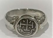 Atocha Coin Ring Sterling Silver 14k Gold Treasure Shipwreck Jewelry Ladies Mens