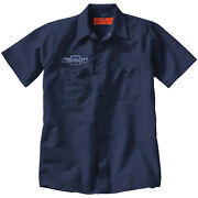 Chevrolet Chevy Embroidered Patch + Mechanic Work Shirt Auto Gas Oil Petroliana