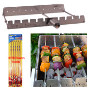 Rotisserie Kit For Gas Burner Grill With Motor Operated Rotator 10 Free Skewers