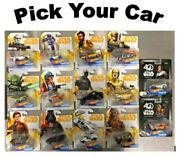 Star Wars Disney Marvel Dc Hot Wheels Character Cars And Starships - Pick Your Own