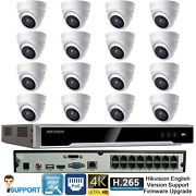 Hikvision 4k 8mp 16ch Nvr 16 X 5mp Onvif Dome Ip Poe Camera Cctv Security System
