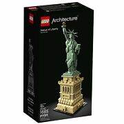 New Sealed Lego Architecture Statue Of Liberty 21042 Building Kit 1685 Piece