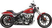 Bassani 1sd2fb Radial Sweepers Exhaust System Chrome W/black Heat Shield W/holes