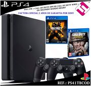 Ps4 Playstation 4 1tb +2 Controls + Call Of Duty Wwii Black Ops4