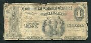 1865 1 The Commercial National Bank Of Chicago, Il National Currency Ch. 713