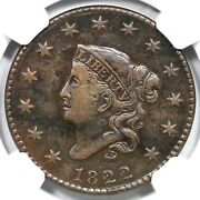 1822 N-6 R-3 Ngc Xf Details Matron Or Coronet Head Large Cent Coin 1c