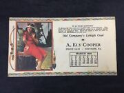 Vintage Advertising Card Old Company's Lehigh Coal A Ely Cooper New Hope Pa 1925