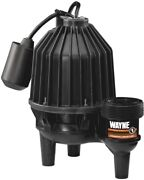Wayne Thermoplastic Sewage Pump 120-volts Cast Iron Seal Portable Carry Handle