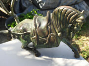 Fine Old Chinese Bronze Horse Wei Or Sui Style 25 Pound Bronze