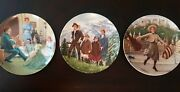 Set Of 3 Sound Of Music Collector Plates Knowles Fine China 1987