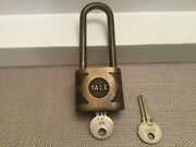 Yale Soild Brass Super Pin Tumbler Lubricate With Graphite Padlock With 2 Keys