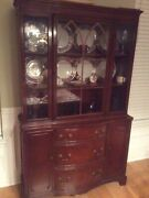 Antique Solid Cherry China + 5 Free Chairs And Table