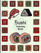 Sushi Easy Fun Activity Coloring Book For Sushi Lover Fish Rice Roll Japanese