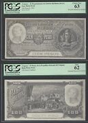 Uruguay Face And Back 100 Pesos 1935 Pick Unlisted Photograph Proof Uncirculated