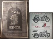 Indian Motorcycle 2x Poster Lot Dispatch Tow Service Station Advertising Hendee