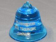 Vintage Bell Telephone Southwestern Co. Cobalt Blue Glass Paperweight 12 Rare