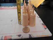 24 X Miniature Unfinished Wooden Butter Churns Doll House