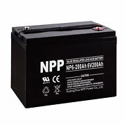 Npp 6v 200ah 6volt Deep Cycle Rechargeable Battery For Rv Boat Pv Solar Power