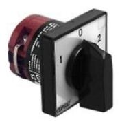 Clipsal Rotary Cam Switch 2-pole 60-deg Changeover 1-off-2 Position- 12a Or 25a