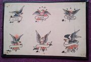 Classic Moskowitz Brothers 1930-40s Hand Painted Bowery Tattoo Flash
