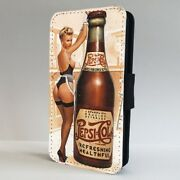 Pin Up Girl Retro Soda Vintage Flip Phone Case Cover For Iphone Samsung