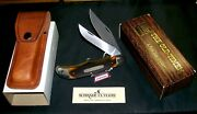 Schrade 25ot Hunting Knife And Sheath Old Timer Cir-1970and039s W/packagingpapers
