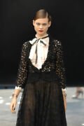08p Runway Lace Jacket And Sheer Blouse Size 38, Us Size 2, 4, 6