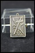 Anddagger Stations / Way Of The Cross Silver Book Locket Pendant Jesus Christ 13 Picture