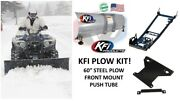 Kfi Polaris And03913-and03921 Can Am Outlander 450 500 570 Plow Kit 60 Straight Plow