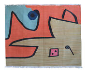 Paul Klee Silence Of The Angel Inspired Silk Handmade Area Wall Rug 4andprime6andprime X 5andprime7andprime