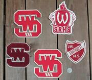 Vintage Varsity Chenille Letter Patches Wool/felt Group Of 5 Sports Letterman 4