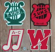 Vintage Marching Band Chenille Varsity Letter Patches Group Of 4 Letterman Baton