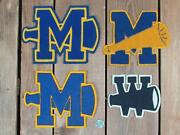 Vintage 1950s Cheerleaders Chenille Varsity Letter Patches Group Of 4 Mandw Cheer