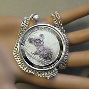 New Sterling Silver Bullion Pendant And Chain With One Oz Silver Australian Koala