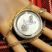 9ct Gold New Bullion Pendant To Fit A One Oz Silver Koala And Maple Leaf Coin