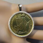 18ct Gold New Celtic Pendant That Will Fit A One Oz Gold Bullion Britannia Coin