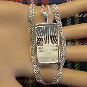 New Sterling Silver Faith Bullion Pendant With 10g Fine Silver Bar And Chain