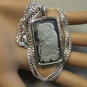 New Sterling Silver Lady Luck Bullion Pendant With 20g Fine Silver Ingot And Chain
