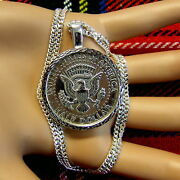 New Sterling Silver Bullion Pendant And Chain For American Half Dollar Coin