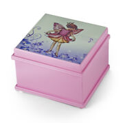Matte Pink Enchanted Fairy 18 Note Ballerina Musical Jewelry Box