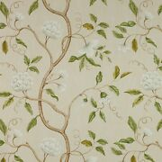 Colefax And Fowler Chinoiserie Japanese Floral Snow Tree Fabric 10 Yards Cream