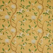Colefax And Fowler Chinoiserie Japanese Floral Snow Tree Fabric 10 Yards Gold