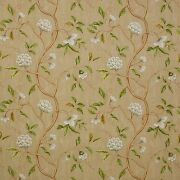 Colefax And Fowler Chinoiserie Japanese Floral Snow Tree Fabric 10 Yards Beige