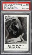 1963-1965 Spook Stories Julie Adams Signed Creature From The Black Lagoon Psa