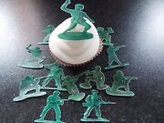 12 Precut Edible Toy Soldiers Wafer/rice Paper Cake/cupcake Toppers