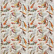 Manuel Canovas Tropical Fish Indoor Outdoor Fabric 10 Yards Persimmons Goldenrod