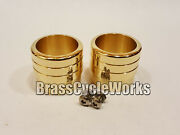 Solid Brass Exhaust Tips For 33.00 Pipes. Harley Rat Rod Bobber Chopper