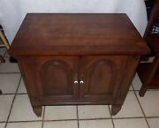 Walnut Cabinet / Nightstand / End Table By Drexel Ns71